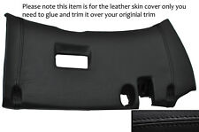 BLACK LEATHER LOWER DASH PANEL TRIM SKIN COVER FITS TOYOTA SUPRA MK4 93-02