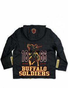 Buffalo Soldier United States Army Windbreaker Jacket USA 1886 9th 10th Calvary