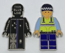 Thin Blue Line, Coin, Police, Law Enforcement, 52mm Tall, 1 x Coin (#4)