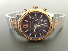 New MICHAEL KORS Men's Two Tone Lexington Watch MK8412