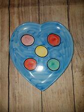Bellini PIU Italy Heart Painted Plate RARE