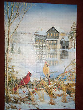 Perfalock Countryside Cardinals Jigsaw Puzzle 1000 Pieces Wrebbit Foam Backing