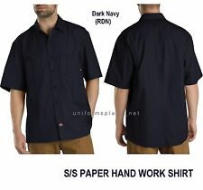 Dickies Shirts Mens SHORT SLEEVE Work Shirt Dark Navy 100% Cotton M L XL 2XL 3XL