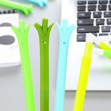 2Pcs Cute Grass Shape Stationery Black Gel Ink Roller Ball Point School Supplies