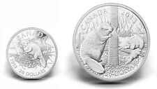 Canada $20 and $50 Fine Silver Coins - The Beaver (2013)