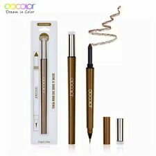 Docolor 1pc Premium Brown Eyebrow Pencil Waterproof Fork Tip Liquid Eyeliner Pen
