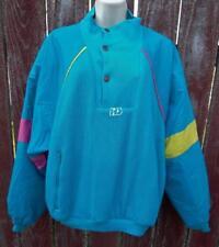 Pullover Ski Jacket BLUE Retro Colors XXL (50) Henri Duvillard Vtg Made France