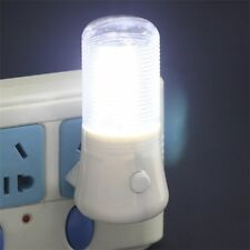 LED Night Light Wall Plug-in Bright Light White Saving Energy AC Powered