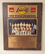 "Vintage VTG LA Lakers 1987 1988 World Champions Plaque Marlboro Rare 13"" x 16"""
