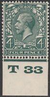 1924 BLOCK CYPHER SG424 4d GREY GREEN CONTROL T33  MINT HINGED