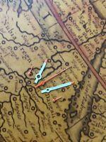 Weiss/Orange NOS Style Chronographen Zeigersatz Retro für ETA Valjoux 7733