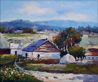 Quality Hand Painted Oil Painting Countryside Cottages 20x24in