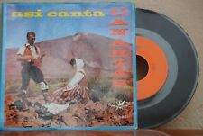"CONJUNTO ACAYMO ASI CANTA CANARIAS MEXICAN 7"" SINGLE GATEFOLD WORLD MUSIC/SPAIN"