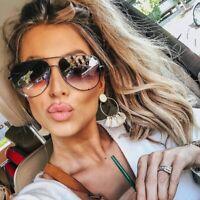 "Big Aviator  XXL ""Talon"" OVERSIZED Metal Gradient Women Sunglasses Shadz GAFAS"