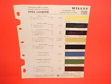 1949 WILLYS JEEP CJ-2A CJ-3A JEEPSTER PHAETON STATION WAGON TRUCK PAINT CHIPS