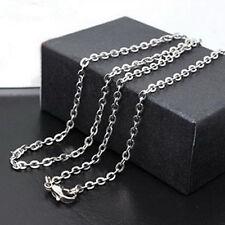 Damen Herren 50cm Titan Stahl Round O Kette Halskette Edelstahl Anhänger Schmuck