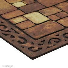 Stone-Look Doormat Aberdeen Welcome 18 x 30 Visual Recycled Rubber Durable New