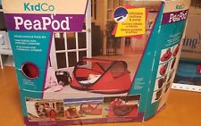 Euc, Fast Shipping, KidCo - PeaPod - Child Travel Bed Crib Pack Play - Cranberry