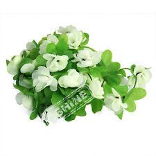 7.54ft Artificial Rose Ivy Flower Leaf Garland Plants Fake Foliage Vine Wedding White