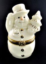 Lenox Treasures Porcelain The Snowman's Surprise Box (E65)