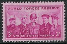Scott 1067- Armed Forces Reserve, 5 Services- MNH 3c 1955- unused mint stamp
