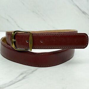 Burgundy Vintage Genuine Leather Belt Size 40