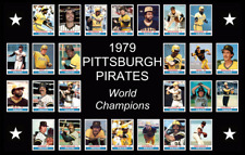 1979 PITTSBURGH PIRATES Baseball Card POSTER Man Cave Decor Fan Birthday Gift 79
