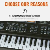 Kid's Electric Keyboard Digital Music Piano 61 Keys Instrument Microphone & Z0I3