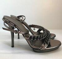 Gucci Women Metallic Leather Shoes EU Sz 39 US 9