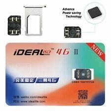 iDeal II Unlock Turbo Sim Card NEW For iPhone X 8 7 6S 6 Plus 5/5S SE LTE 4G GPP