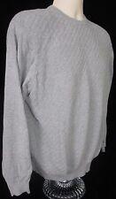 Men's Lyle and Scott Gray Sweater Size L 100% Combed Cotton Crewneck