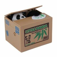 Lovely Kids Automated Panda Steal Coin Bank Money Saving Box Pot Case Gifts#^