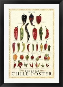 The Great Chile Poster [fresh] by Mark Miller Framed Art 30x42