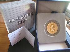 semeuse 2012 100€ or rare état neuf