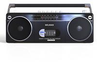 Bluetooth Portable Cassette Player Recorder Boombox AM/FM Radio USB/SD - BLACK