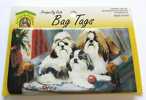 Ruth Maystead Bag Tag- luggage Tag-- Shih Tzu- Dog--flexible plastic