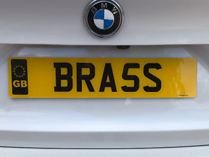 BRASS - BRA5S Real money Registration Number personal Cherished Private Plate.