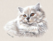 Black Cat Rushing Home Print by I Garmashova