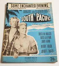 Partition vintage sheet music BO Film SOUTH PACIFIC Some Enchanted Evening *40's