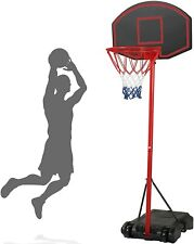 Portable Basketball Goal System Hoop Stand with Backboard Wheels Outdoor Rim Net
