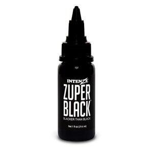 Zuper Black — Intenze Tattoo Ink — 1oz Bottle