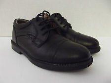 MICHAEL JAMES Black Leather Lace Up Loafers Made In Italy Toddler Boys SHOES 12