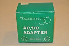 Dept 56 Village Accessories White AC/DC adapter 55026 Unused In Box