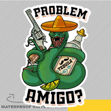 Problem Amigo Cool Snake Revolver N Vinyl Sticker Decal Window Car Van Bike 2627