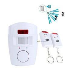 Wireless House Alarm PIR Motion Detector Alarm System + 2x IR Remote Security U^