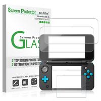 Nintendo 2DS XL amFilm Premium Tempered Glass Screen Protector (2 Top, 2 Bottom)