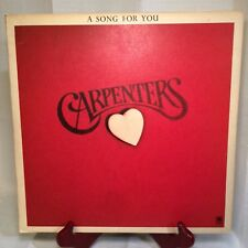 """The Carpenters 1972 """"A Song for You"""" Original Vintage Vinyl Record - Very Good+"""