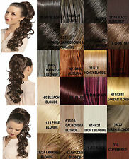 """Womens Drawstring Long Ponytail Extra Bump Up Volume Curly 26 Colors"""" UK MOLLY"""