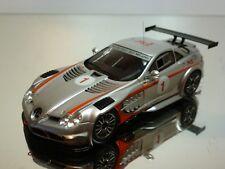 AUTOART MERCEDES BENZ SLR 722 GT 2008 #1 - SILVER 1:43 - EXCELLENT - 20+21