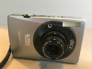 Canon IXUS 75 Zoom Compact Camera - 7.1MP Plus Battery And Card
